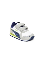 PUMA Kids White & Grey Cabana Racer SL V Casual Shoes
