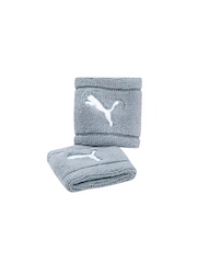 Puma Unisex Pack of 2 Grey Wristbands