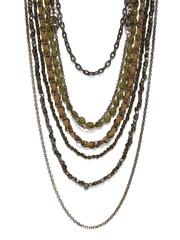 Adrika Green Multi-Stranded Opera Necklace