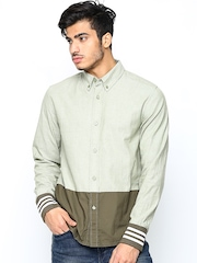 Adidas Originals Men Green & Olive Green RC Shirt
