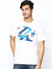 Adidas Men White Graphic S_1 Skateboarding Printed T-shirt Adidas Originals