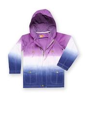 Boys Purple & Blue Hooded Jacket UFO