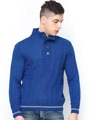 American Eye Men Blue Sweater