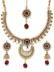 Anouk Gold-Toned & White Jewellery Set