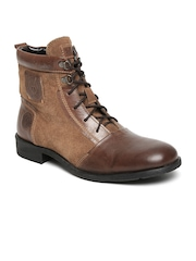 Alberto Torresi Men Brown Leather Boots
