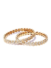 Sukkhi Set of 2 Gold-Plated  Stone-Studded Bangles