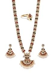 Sukkhi Gold-Plated Stone-Studded Jewellery Set
