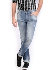 HRX Men Blue Tapered Fit Anti-Microbial Jeans