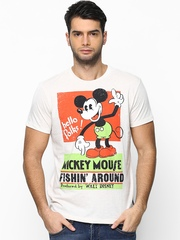 Disney by Free Authority Men Off-White Printed T-shirt