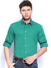 Roadster Men Green Alonso Shelby Slim Fit Casual Shirt