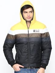 Men Yellow & Black Hooded Jacket Duke Stardust