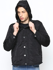 Duke Stardust Men Black Hooded Jacket