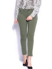 GAS Women Olive Green Sumatra High Jeggings