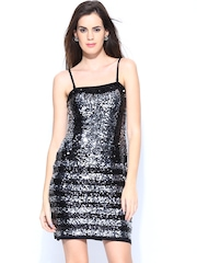 Vero Moda Marquee by Karan Johar Black Sequinned Sheath Dress