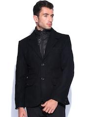 Arrow New York Men Black Woollen Jacket