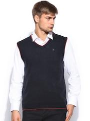 Arrow Sport Men Navy Sleeveless Sweater