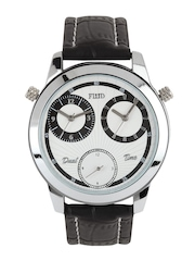 FLUID Men White Dual Dial Watch FL105 WH01