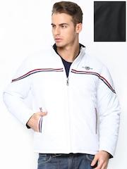 Men White & Black Reversible Jacket Duke