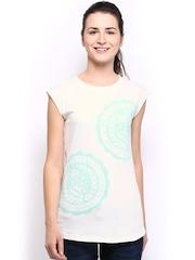 Fila Women White Printed T-shirt