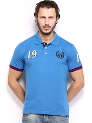 Fila Men Blue Polo T-shirt