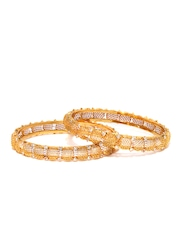 Bindhani Set of 2 Gold-Toned Bangles