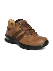 Red Chief Men Tan Brown Leather Casual Shoes