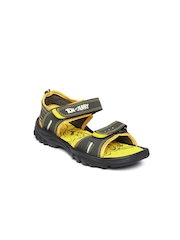 Tom & Jerry Kids Olive Green & Yellow Sports Sandals