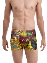 Zoiro Party Yellow & Green Fruit Print Trunks 0052