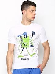 Classic Men White Classic Dude Printed T-shirt Reebok