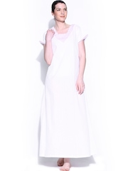 Naughty White Embroidered Maxi Nightdress 10150