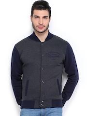 D.O Men Charcaol Grey & Navy Sweatshirt