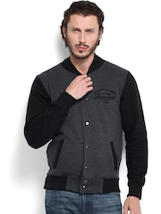 Difference of Opinion Men Charcoal Grey & Black Sweatshirt