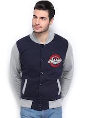 Difference of Opinion Men Navy & Grey Melange Sweatshirt