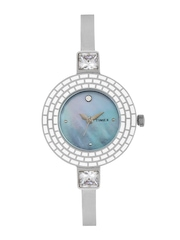 Timex Women Pearly-Grey Dial Watch TI000N30300