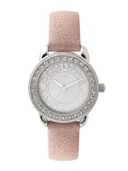 Timex Women Silver-Toned Dial Watch T2N448