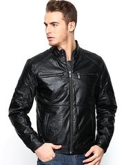 Wills Lifestyle Men Black Jacket