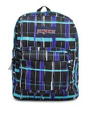 Jansport Unisex Black & Blue Checked Superbreak Backpack