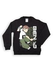 Ben 10 by Kids Ville Boys Black Printed Sweatshirt