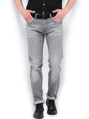 Roadster Men Grey Corvette Slim Fit Jeans