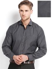 Black Coffee Men Grey Formal Shirt