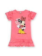 Disney Princess Girls Pink Printed Drop Waist Dress
