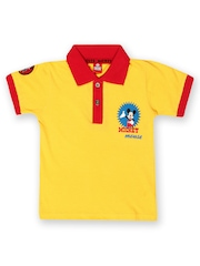Disney Mickey Mouse Boys Yellow & Red Polo T-shirt