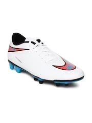 Nike Men White Hypervenom Phade FG Football Shoes