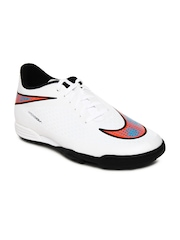 Nike Men White Hypervenom Phade TF Football Shoes