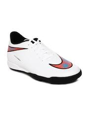 Nike Men White Hypervenom Phade TF Football Shoes