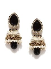 Fida Gold-Toned & Black Drop Earrings