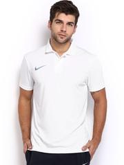 Nike Men White Media Polo T-shirt