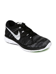Nike Men Black Flyknit Lunar 3 Running Shoes