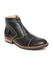Clarus Men Black Leather Casual Shoes