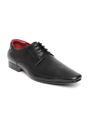 Clarus Men Black Leather Formal Shoes